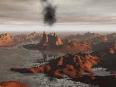 Volcanoes on Mars.